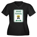Jihad Parking Women's Plus Size V-Neck Dark T-Shir