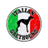 "Italian Greyhound 3.5"" Button"
