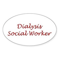 Dialysis SW Oval Decal