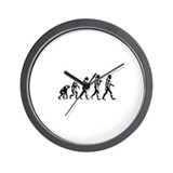 Evolution of Man Wall Clock