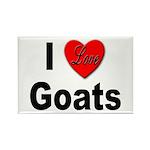 I Love Goats Rectangle Magnet (10 pack)