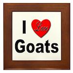 I Love Goats Framed Tile