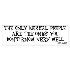 Normal people Bumper Car Sticker