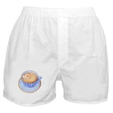 Cat in Coffee Boxer Shorts