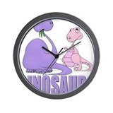 Dinosaurs (Pink & Purple) Wall Clock