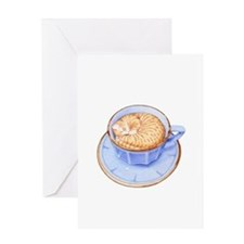 Cat in Coffee Greeting Card