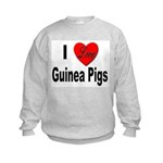 I Love Guinea Pigs Kids Sweatshirt