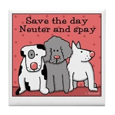 Dog Spay and Neuter Tile Coaster