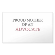 Proud Mother Of An ADVOCATE Rectangle Decal
