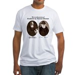 Wallace & Charles Darwin Fitted T-Shirt