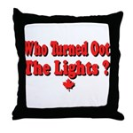 Afraid of the Dark? Throw Pillow