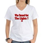 Afraid of the Dark? Women's V-Neck T-Shirt