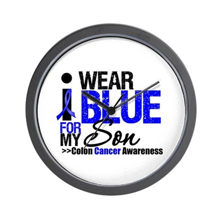I Wear Blue (Son) Wall Clock