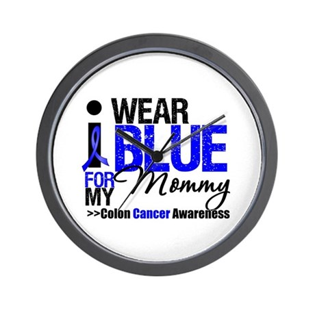 I Wear Blue Mommy Wall Clock