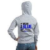 I Wear Blue Mom Zip Hoodie