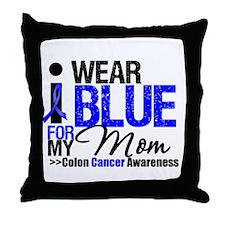 I Wear Blue Mom Throw Pillow