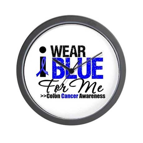 I Wear Blue For Me Wall Clock