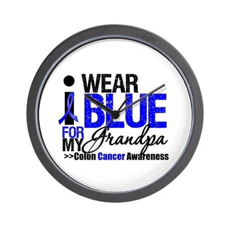 I Wear Blue Grandpa Wall Clock