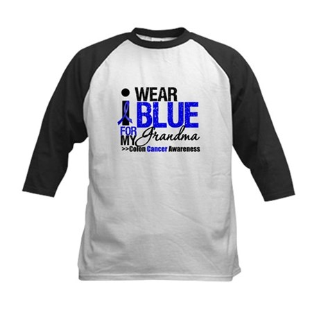 I Wear Blue (Grandma) Kids Baseball Jersey