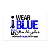 I Wear Blue Granddaughter Postcards (Package of 8)