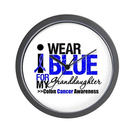 I Wear Blue Granddaughter Wall Clock