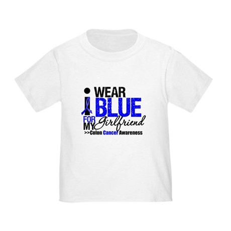 I Wear Blue (Girlfriend) Toddler T-Shirt