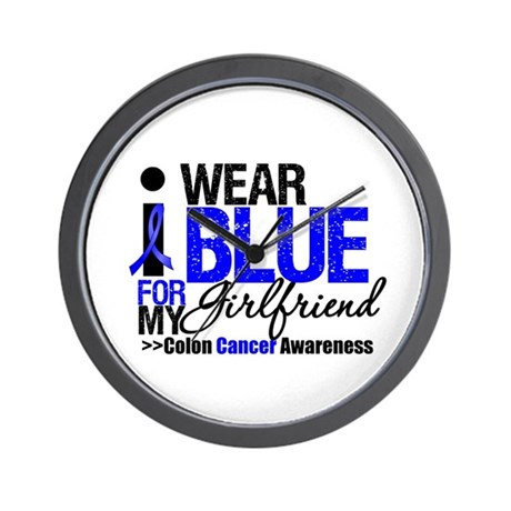 I Wear Blue (Girlfriend) Wall Clock