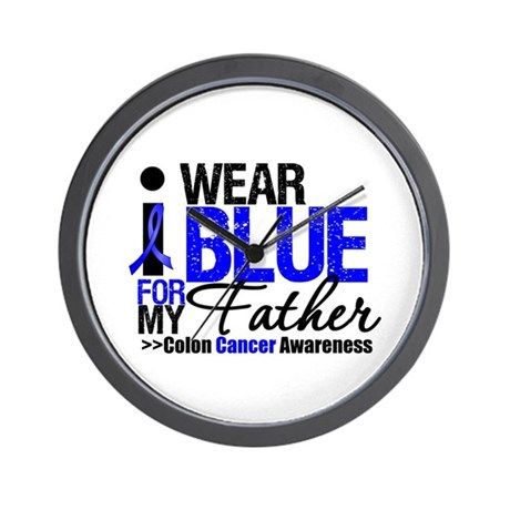 I Wear Blue (Father) Wall Clock
