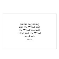 JOHN  1:1 Postcards (Package of 8)