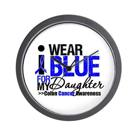 I Wear Blue (Daughter) Wall Clock