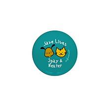 Save Lives Spay & Neuter Mini Button
