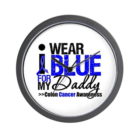 I Wear Blue (Daddy) Wall Clock