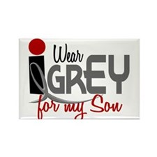 I Wear Grey For My Son 32 Rectangle Magnet