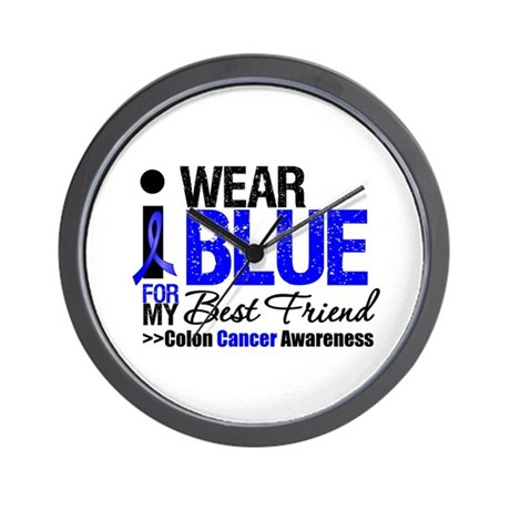 I Wear Blue (Best Friend) Wall Clock