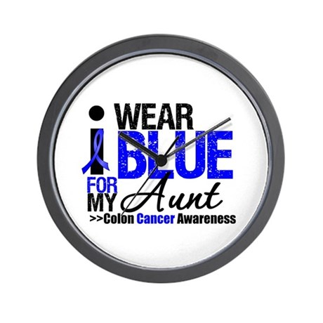 I Wear Blue (Aunt) Wall Clock