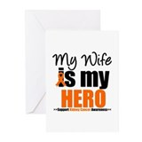 KidneyCancerHero Wife Greeting Cards (Pk of 10)