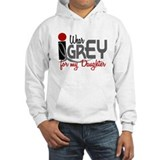 I Wear Grey For My Daughter 32 Hoodie Sweatshirt