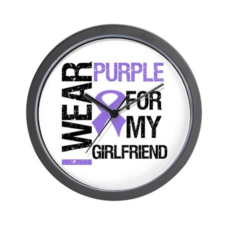 IWearPurpleGirlfriend Wall Clock