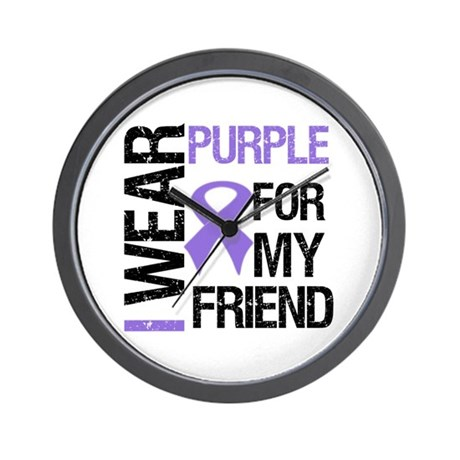 IWearPurpleFriend Wall Clock
