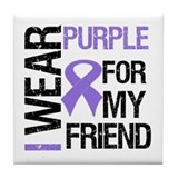 IWearPurpleFriend Tile Coaster