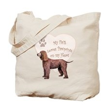Irish Water Spaniel Heart Tote Bag