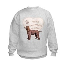 Irish Water Spaniel Heart Sweatshirt