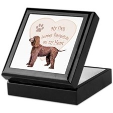 Irish Water Spaniel Heart Keepsake Box