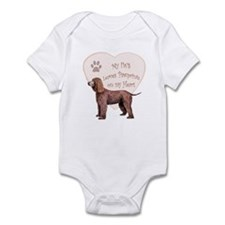 Irish Water Spaniel Heart Infant Bodysuit