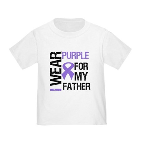 IWearPurpleFather Toddler T-Shirt