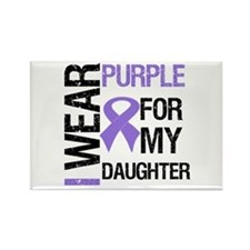 IWearPurpleDaughter Rectangle Magnet
