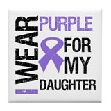 IWearPurpleDaughter Tile Coaster