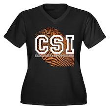CSI TV Show Women's Plus Size V-Neck Dark T-Shirt