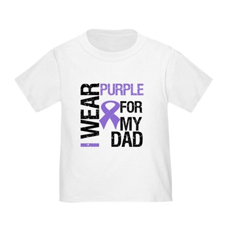 IWearPurpleDad Toddler T-Shirt