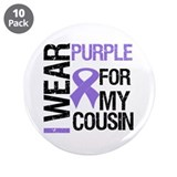 "IWearPurpleCousin 3.5"" Button (10 pack)"
